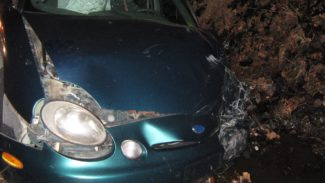 Frontend damage to a vehicle after a car accident where a Michigan car accident attorney may be able to help.